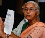 Medha Patkar during a press conference