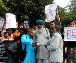 Social activists' demonstration against violence in WB