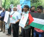 Social activists' demonstration against the death of Palestinians