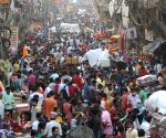 Social distancing goes for a toss as people throng Sadar Bazaar for Diwali shopping