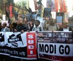 SUCI-C workers protest against PM Modi during his visit to Kolkata