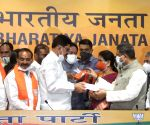 Some Eminent personality join BJP in presence of Union minister Dharmendra Pradhan at BJP HQ, 6A DDU Marg, in New Delhi