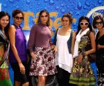 "Some of the models for ""Delhi Fashion Week"" at launch of ""Tiger Fashion Safari Bus"" at the Emporio Mall in New Delhi."