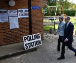 BRITAIN SONNING EUROPEAN PARLIAMENT ELECTIONS THERESA MAY VOTE