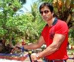 Sonu Sood launches New Ride at Waterpark in Mumbai.