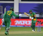 :Dubai:South Africa's Aiden Markram bats during the Cricket Twenty20 World Cup match between South Africa and the West Indies  ,