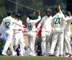 3rd test - Day 2 -  South African players celebrate the wicket of Ajinkya Rahane