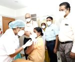 Free Photo: South Central Railway zone's frontline staff receive Covid vaccine