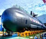 S.Korea launches new homegrown submarine