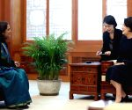 First lady meets Indian envoy