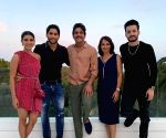 It's a fam-jam birthday for Nagarjuna in Spain