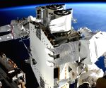Astronauts finish installing first solar arrays outside ISS