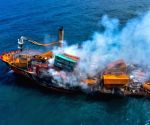 Sri Lanka arrests captain of burnt cargo ship