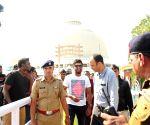 Dinesh Chandimal visits Deekshabhoomi