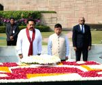 Sri Lankan PM pays tributes to Mahatma Gandhi at Rajghat