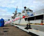 St. Petersburg: INS Tarkash reaches St. Petersburg to participate in Russian Navy Day Parade 2019