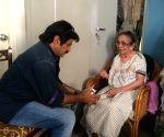 Balakrishna met her fan Vijaya - stills