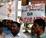 State Assembly passes Telangana State Private Universities Bill-2018, students protest
