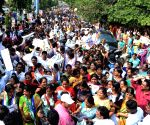 Students and activists hold march to thank Andhra CM for three capital proposal