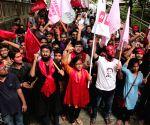 Left sweeps JNUSU polls, students celebrate