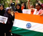 Students celebrate safe return of Abhinandan Varthaman