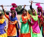 Students during rehearsals for Baisakhi celebrations