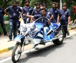 Futuristic monster motorbike developed by engineering students