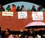 Gargi students stage protest in campus