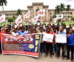 Osmania University students' protest rally