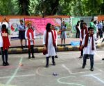 Students perform street play to create awareness against use of plastic