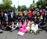 Students demonstration against BSEB Intermediate Results