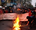 Demonstration against suicide of Dalit scholar