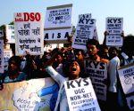 Students' demonstration outside UGC