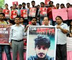 Students' demonstration to demand justice for Aditya Sachdeva