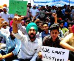 Students'  demonstration to demand justice for Harpreet Singh