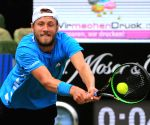 GERMANY STUTTGART TENNIS MERCEDES CUP QUARTERFINALS JAN LENNARD STRUFF VS LUCAS POUILLE