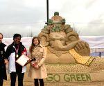 Sudarsan wins gold at Moscow sand art championship