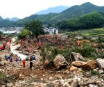 CHINA ZHEJIANG LANDSLIDES RESCUE