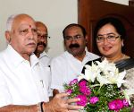 Sumalatha Ambareesh meets B. S. Yeddyurappa