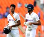 Sundar hits 96 not out as India make 365, take 160-run lead
