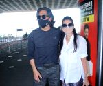 Sunil Shetty & His Wife Mana Shetty Spotted at Airport Departure