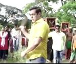 Watch: Salman Khan shares a video whipping himself , warns kids not to try it!