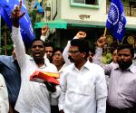Supporters of Ramdas Athawale celebrate