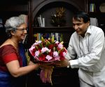Suresh Prabhakar Prabhu takes charge as Union Commerce and Industry Minister