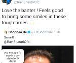 Surprisingly, Ravi Shastri indulges in 'banter' on social media