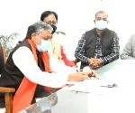 Sushil Modi files nomination for Rajya Sabha bypolls