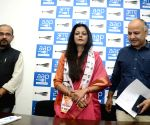 Kirti Azad's wife joins AAP