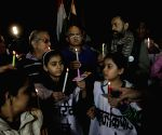 Swaraj Samvad demonstration against Delhi CM