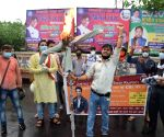 Swarna Sena protests against Nitish Kumar, demands CBI probe into Sushant's death