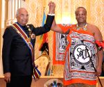 President Kovind receives the order of Lion from Swaziland King